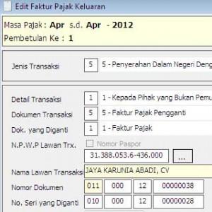 Petunjuk Cara Input Faktur Pajak Pengganti pada ESPT PPN 1111
